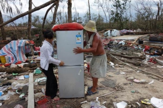 Relief efforts continue in typhoon's wake