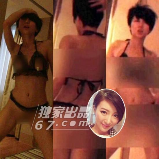 花旦酒店半裸飙艳舞厕所野战 图揭TVB女星混