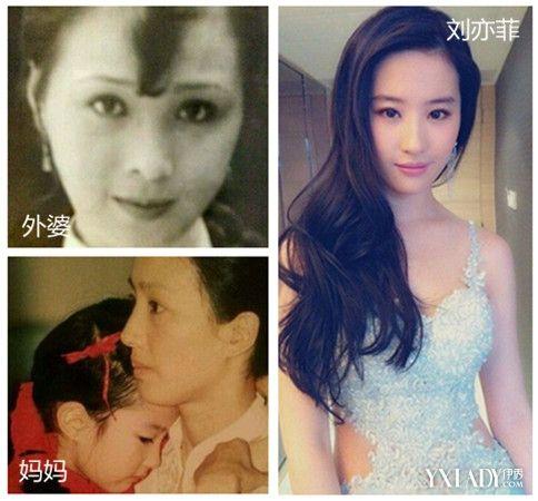 刘亦菲家族照被赞基因好 后天保养不可忽略