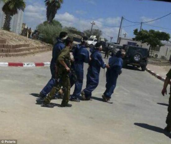 直击以色列处置哈马斯俘虏:当众脱光外衣换纯蓝囚服