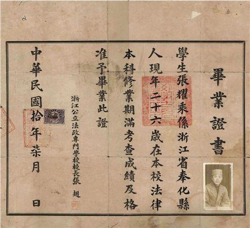 高中复交排名探亲93年前父亲的本科毕业证(图2014老人上海录取回乡北清发现图片