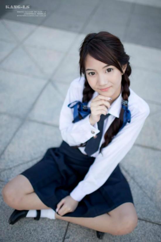 亚洲学生妹撸吧_泰国清纯妹子写真走红亚洲 学生妹写真太美了【3】