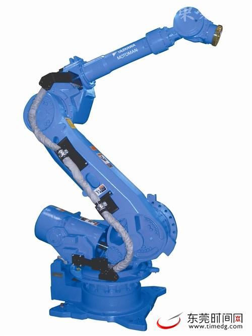 由李群自动化研发的六自由度串联机器人,可实现大角度转动