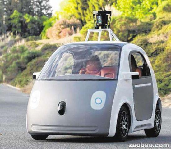 图为无人驾驶汽车.高清图片