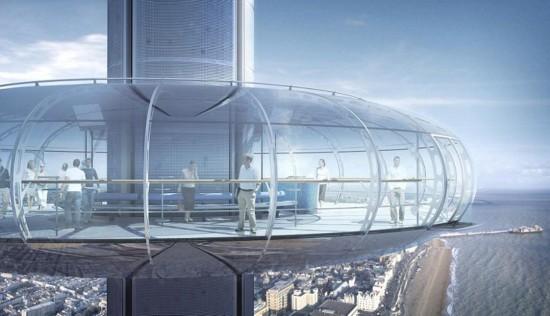 """伦敦的高空""""垂直缆车"""""""