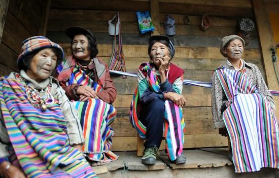 中国最后的独龙族文面女
