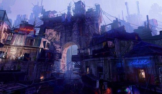 法艺术家绘2084年都市图挑战人类愿景 似末日大片