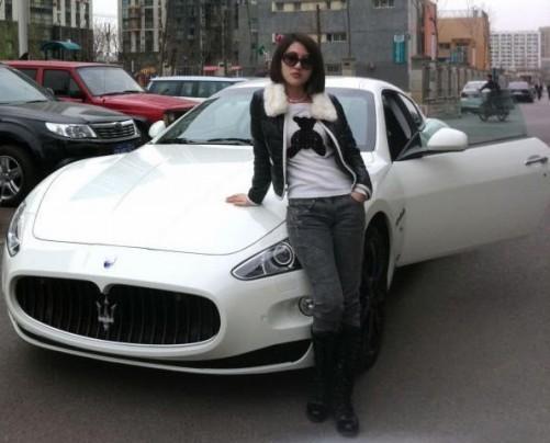 郭美美的豪车玛莎拉蒂 高清图片
