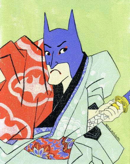 无遮挡邪恶母系漫画- 浮世绘风格的动画人物