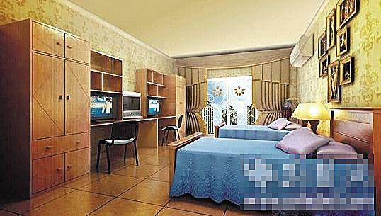 武汉生物工程学院豪华学生宿舍的效果图图片