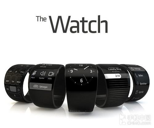 搭配柔屏 随意弯曲The Watch概念机