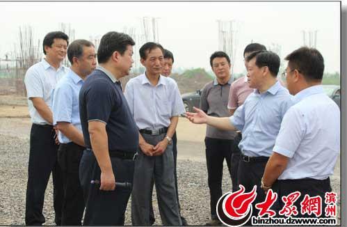 张光峰/滨州市委书记、市人大常委会主任张光峰调研德大铁路建设