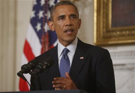 奥巴马授权军方空袭伊拉克否认卷入另一场伊战