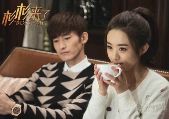 剧中霸道总裁张翰和迷糊小姐赵丽颖的图片