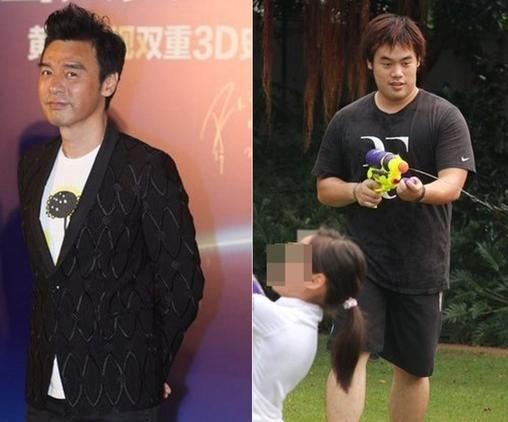 61岁港星钟镇涛携子吃饭 比25岁儿子显年轻