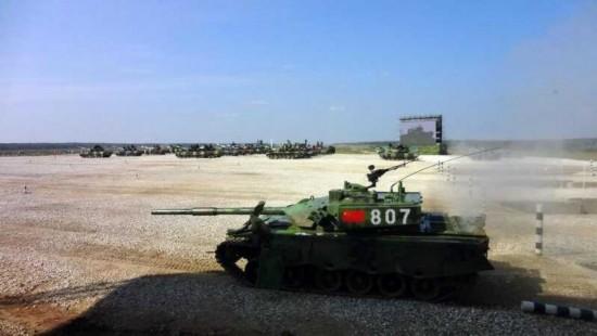 坦克大赛中国96A坦克炮塔变样 零件掉地上