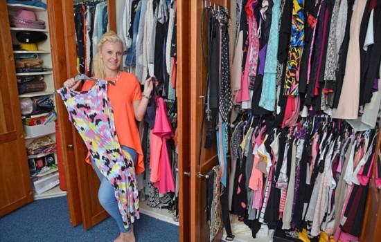 英女子购物成瘾四柜衣服从未穿过
