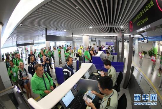 (青奥会)(2)青奥会各体育代表团陆续抵达南京