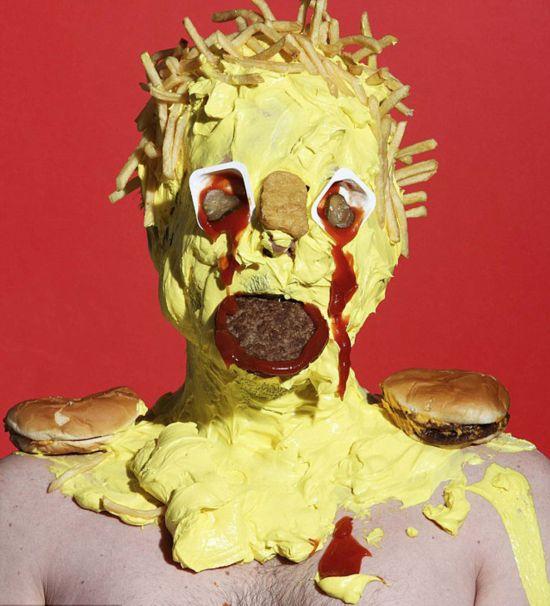 英艺术表情食品怪物v艺术恐怖垃圾抗议家用食挽留绝交垃圾包发被的图片