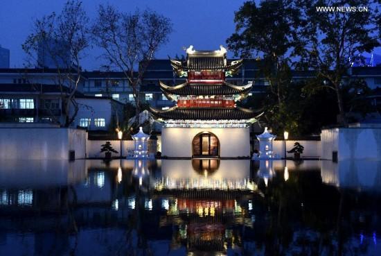 Beautiful night scenery of Nanjing