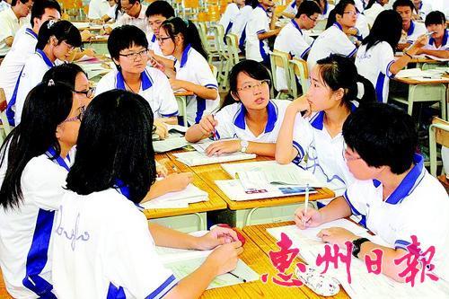 市东江高级中学学习氛围浓厚. 资料图片