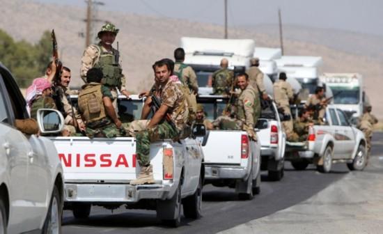 伊拉克库尔德武装在美军支持下夺回摩苏尔大坝