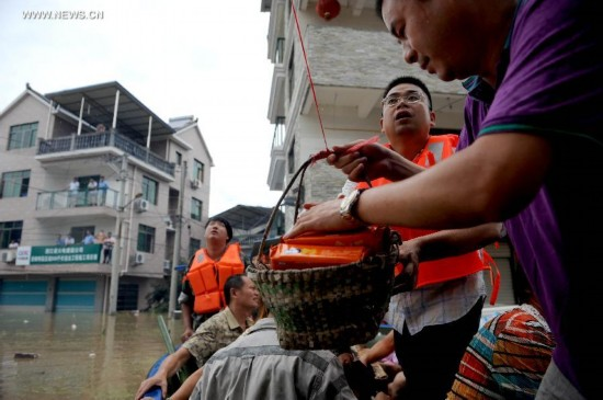 Rain-triggered flood hits China's Lishui City