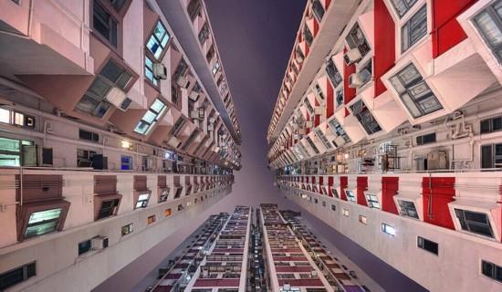 震撼眼球!垂直仰望香港摩天大楼(组图)