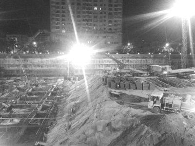 海口友谊国际广场工地长期夜间施工噪声扰民