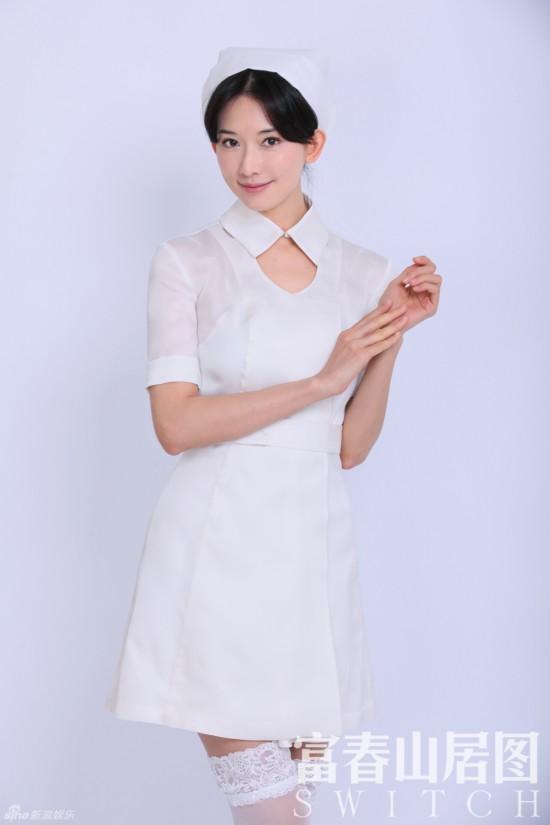 姚晨女仆装PK杨幂学生装 美女明星制服诱惑大