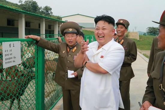 金正恩视察完工的朝鲜人民军第621号育种场