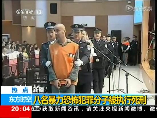 视频:天安门暴恐案犯等8暴恐分子被执行死刑