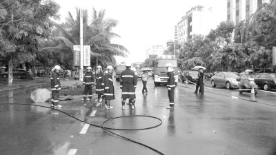 儋州那大镇高压线掉落 6旬老太路过触电身亡
