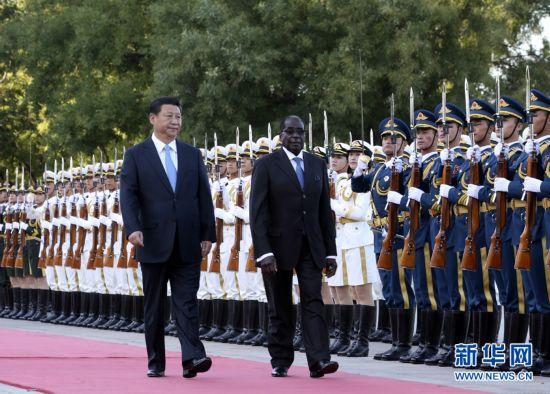 国家主席习近平同津巴布韦总统穆加贝会谈