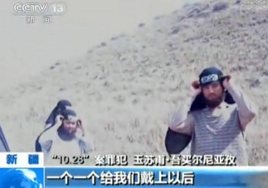 视频 恐怖组织/图为恐怖组织在郊区进行行动宣誓。