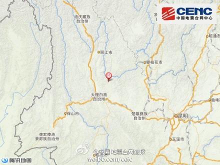 云南宾川县发生3.5级地震 震源深度11千米