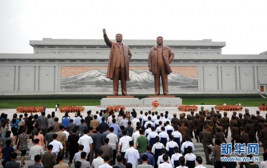 """朝鲜官兵等各界人士参加""""先军节""""纪念活动"""