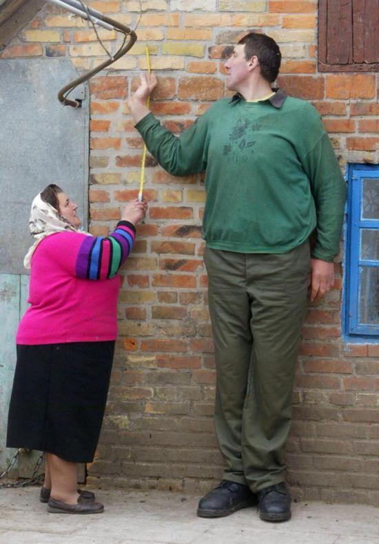 米,曾被认为是世界上最高的人.-世界最高男子去世 身高2.56米曾