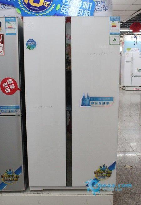 优惠促销不断美菱变频对开门冰箱热销