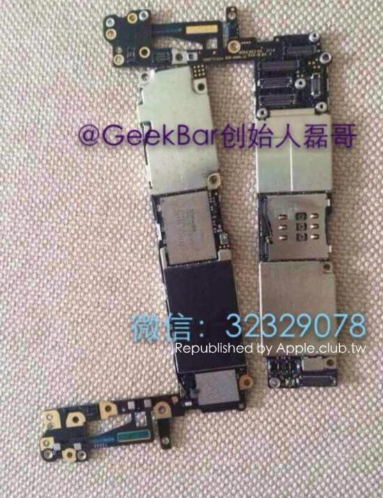 排线主板曝光 iphone 6或集成更多芯片