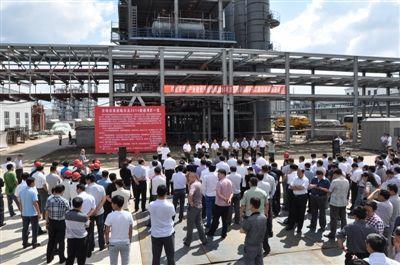 建设现场推进会安达主会场.    摄 -绥化市第三批集中开工建设88个