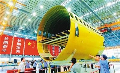 中国大飞机各部段将密集交付 试飞总方案已经确定