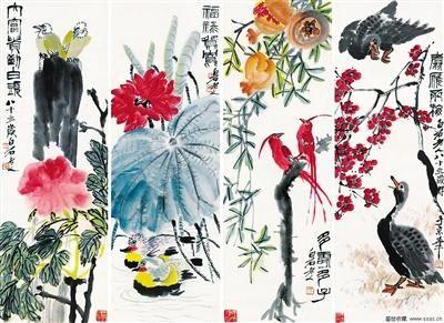 """""""大观――中国书画珍品之夜近现代专场""""中的作品"""