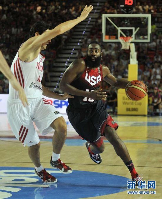 男篮世界杯:美国98:77胜土耳其