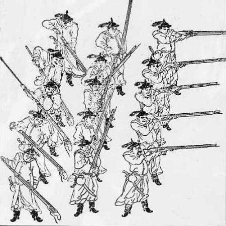 明朝发明三排火枪轮放战术 击败蒙古骑兵
