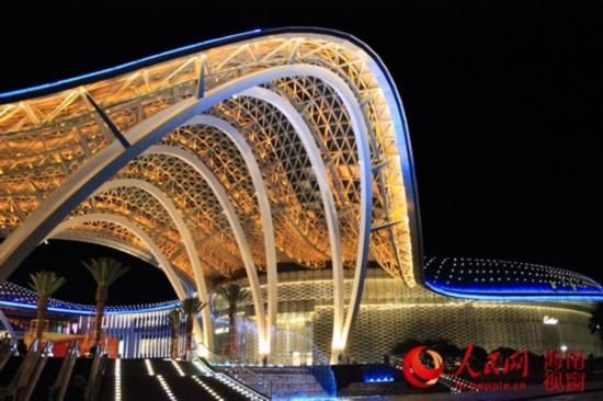 海棠湾免税购物中心夜景