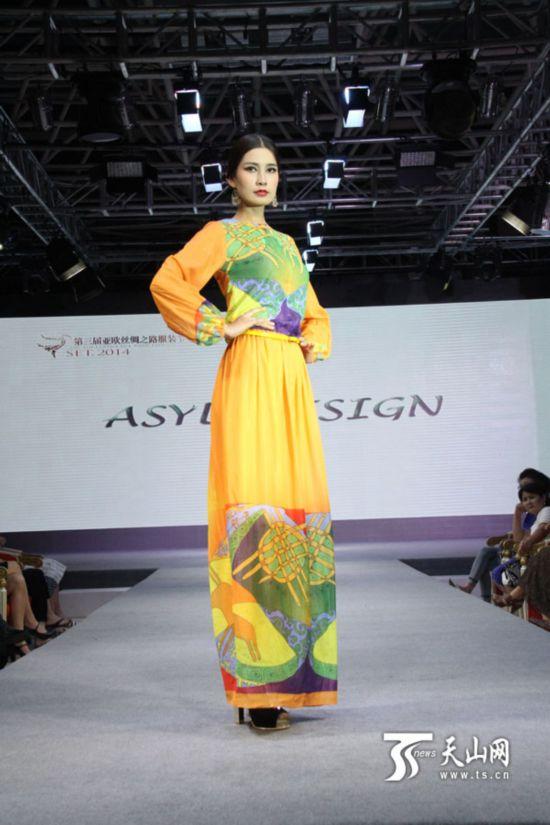 哈萨克斯坦著名服装设计师三上亚欧丝绸之路服装节【24】