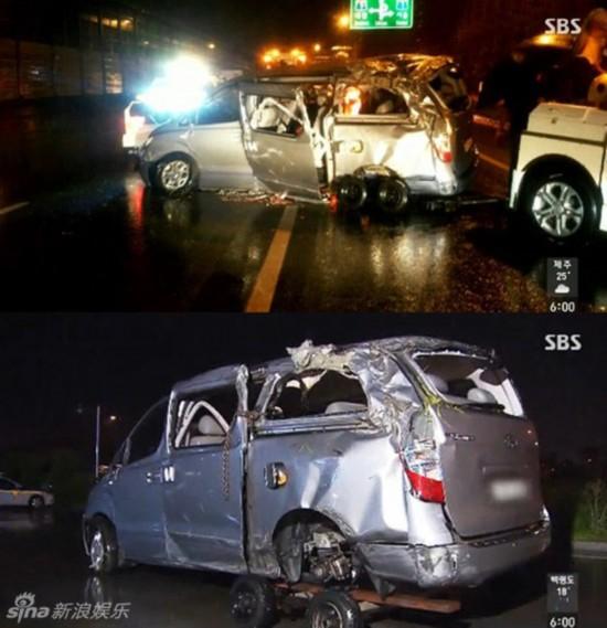 韩国21岁女团成员因车祸去世 事故现场图曝光