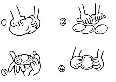 月饼简笔画 步骤 画法