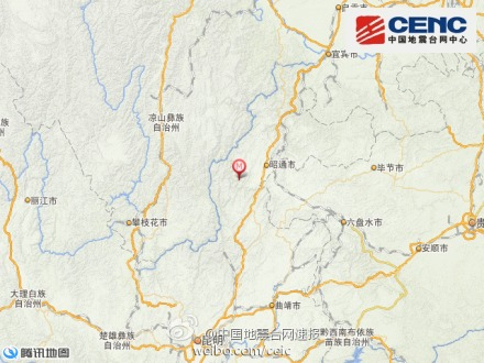 云南省鲁甸县发生4.2级地震 震源深度10千米